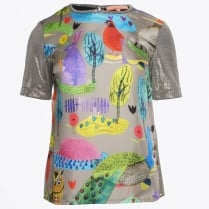 - Violeta Animal Balloon Print Top