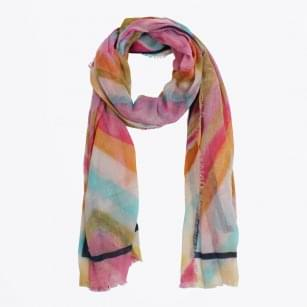 - Watercolour Zig Zag Scarf - Art Print