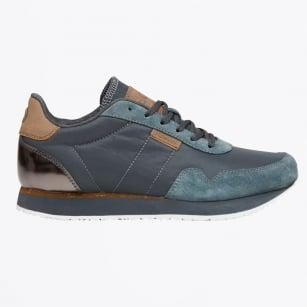 - Nora II Canvas Suede Trainer - Dark Grey