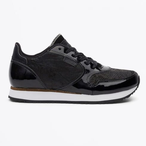 Woden - Ydun II NCS Metallic Fish Skin Trainers - Black