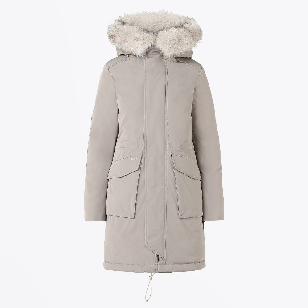 cheap for discount many styles later Woolrich - Military Parka Coat - Stone