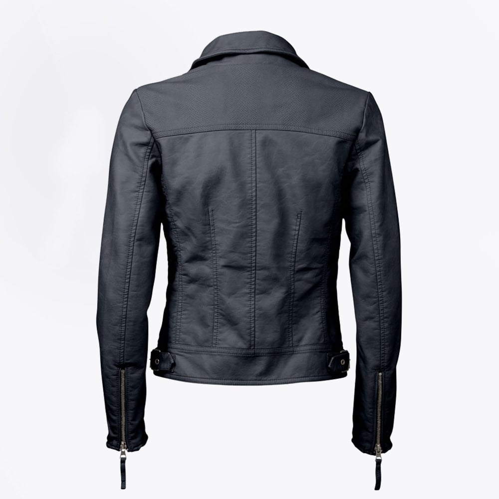 Fake leather biker jacket