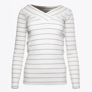 | Jersey Off-Shoulder Top - White