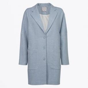 | Oversized Coat - Chambray Blue